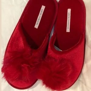 Victoria Secret slide slippers Red